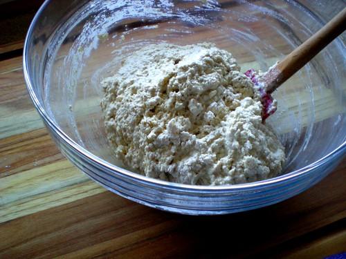 oat soda bread dough