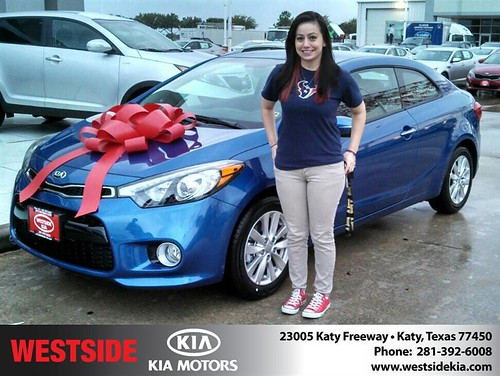 Thank you to Samantha  Messina  on your new 2014 #Kia #Forte Koup from Gil Guzman and everyone at Westside Kia! #NewCarSmell by Westside KIA