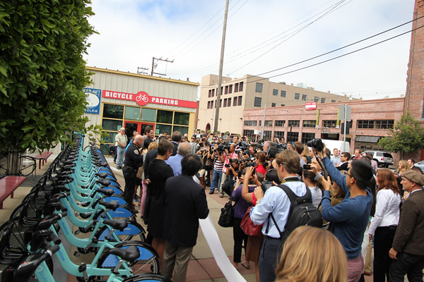 bike share ribbon cutting