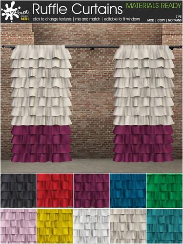 mudhoney ruffle curtains