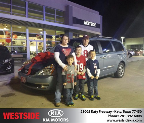 Thank you to Melody  Pohla on your new 2014 #Kia #Sedona from Matthew Zepeda and everyone at Westside Kia! #NewCar by Westside KIA
