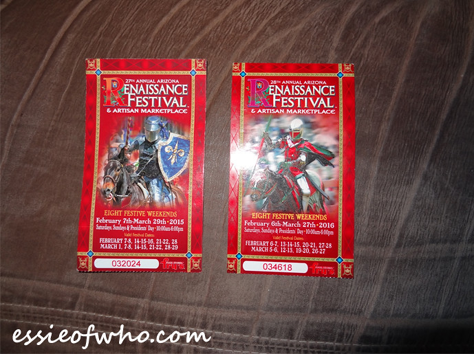 Arizona Renaissance Festival 2015 and 2016 Tickets