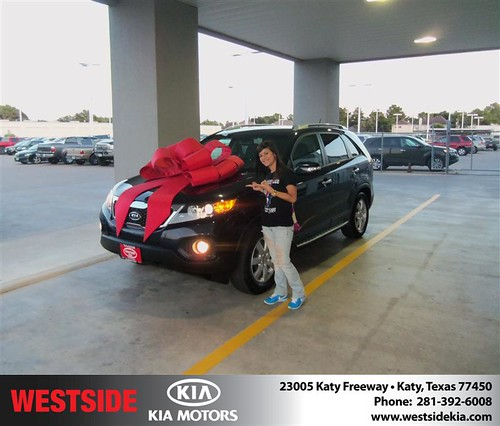 Thank you to Carlos Vasquez on the 2012 Kia Sorento from Damon Clayton and everyone at Westside Kia! by Westside KIA