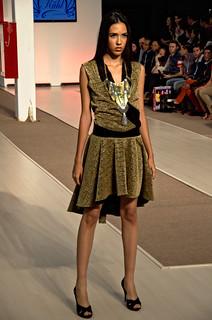 Golden short dress - Intermoda Trends
