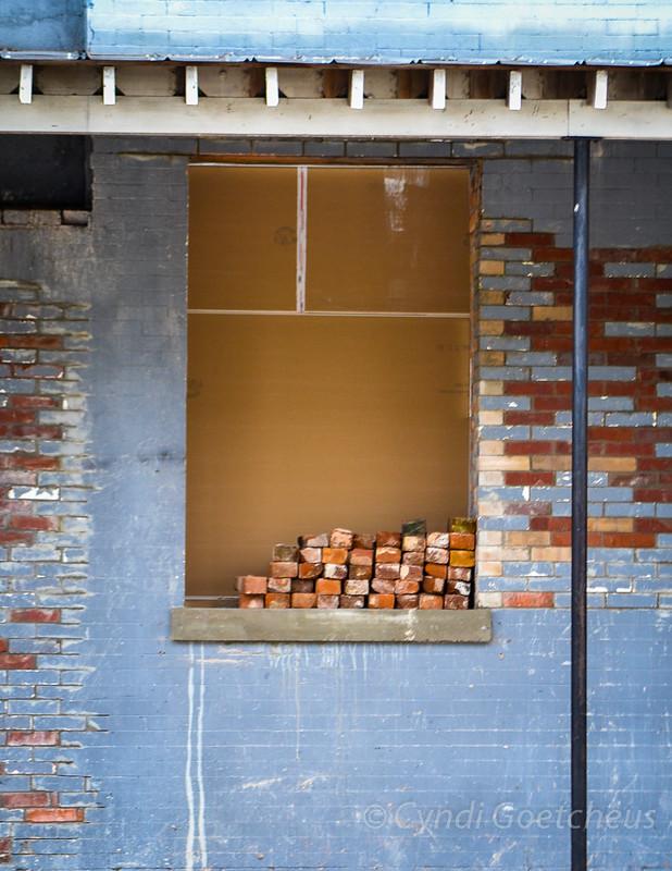 bricks in window cjane