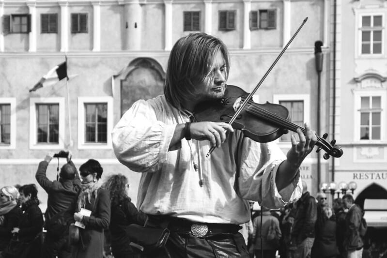 Violinista del pasado.