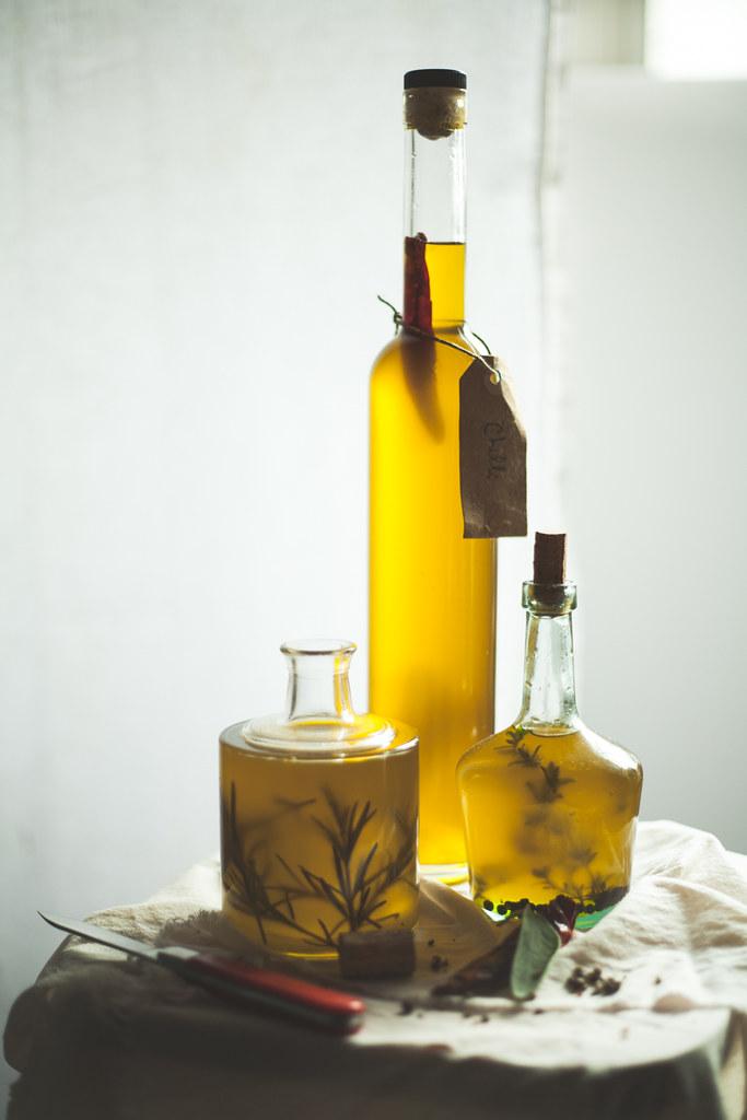 azeite com ervas aromaticas