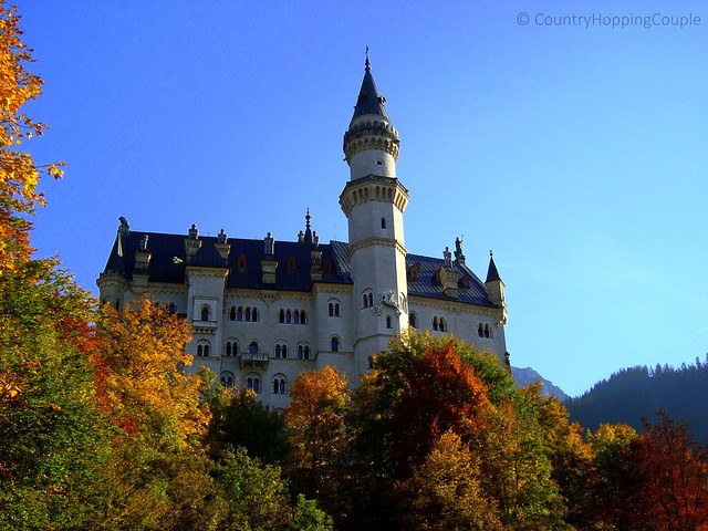Autumn in Fussen. View of Neuschwanstein Castle