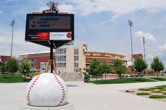 Outside Isotopes Park
