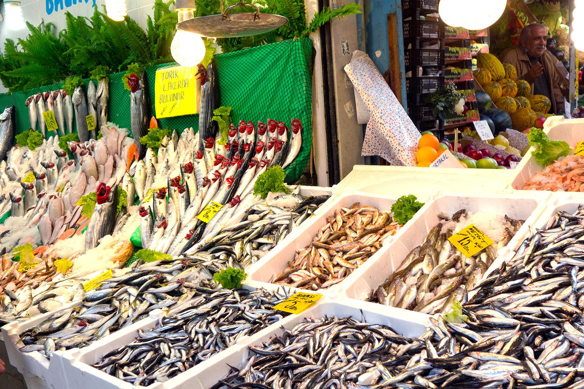 Seafood vendor, Kadikoy Market.