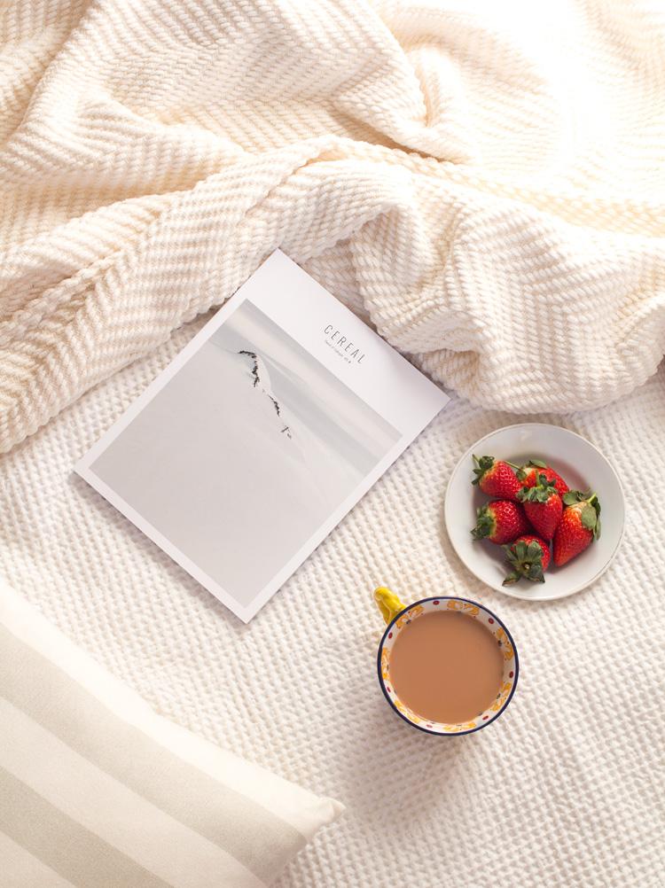 Cereal magazine volume 8 tea and strawberries portrait