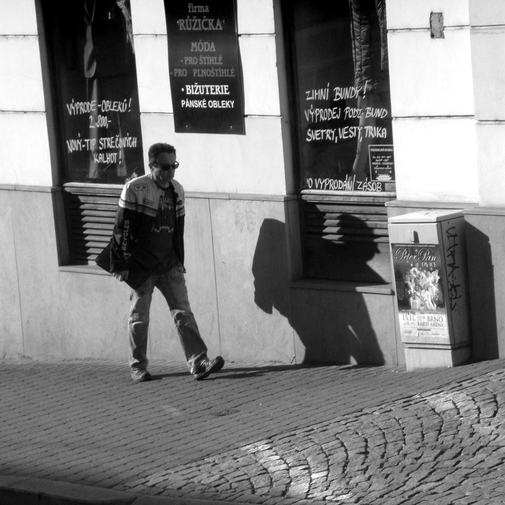 Man with Strange Shadow