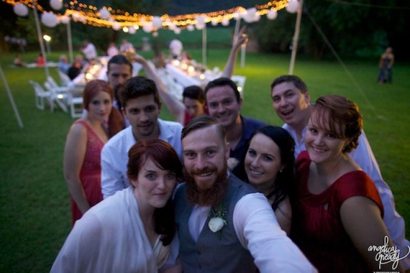 The wedding selfie