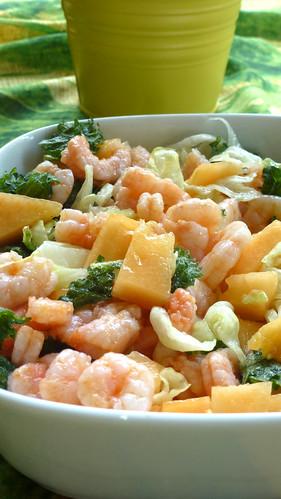 Cantaloupe & shrimps salad - Insalata di melone e gamberetti