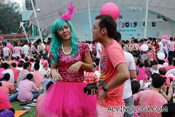 Some came in flamboyant costumes