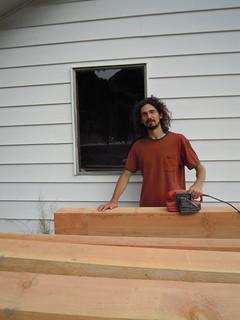 Aug 11 sanding posts and beams