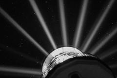 Leuchtfeuer an Milchstraße