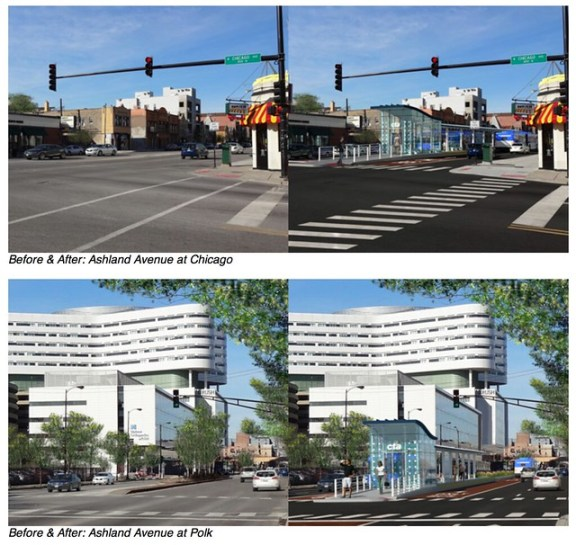Ashland BRT renderings by CTA