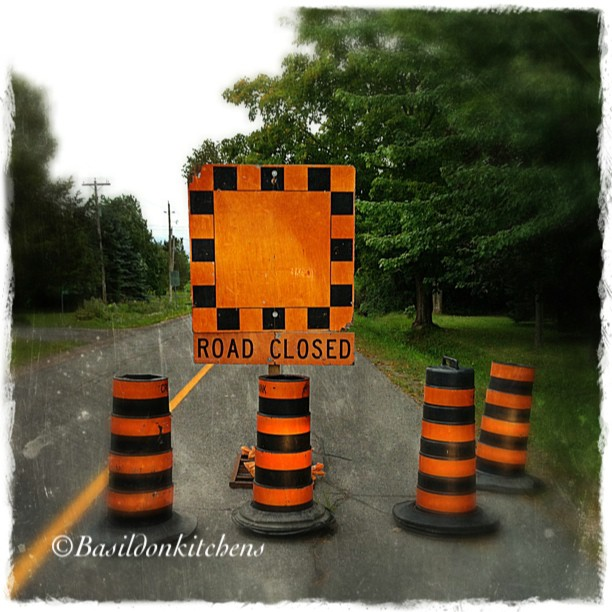 Sep 13 - Unexpected {hmmm; detour this morning} #fmsphotoaday #princeedwardcounty #detour #unexpected #roadwork #caution