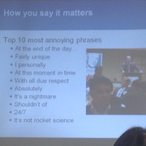 Most annoying phrases