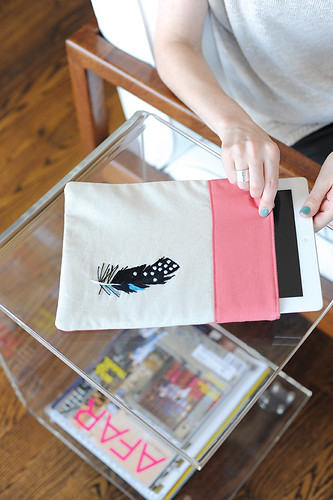 Feather Tablet Case by Penguin & Fish