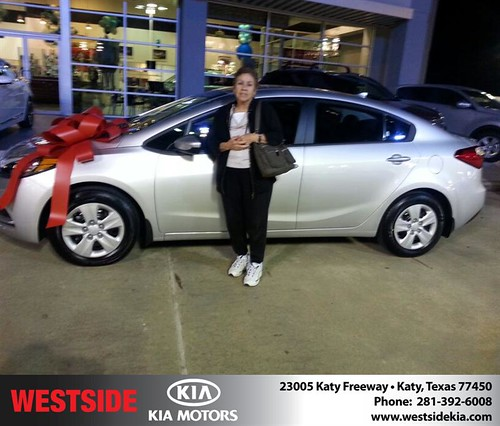 Thank you to Sally Lozano on your new 2014 #Kia #Forte from William Hadnott and everyone at Westside Kia! #NewCarSmell! by Westside KIA