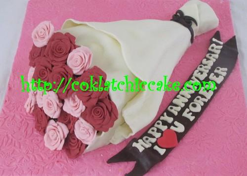 Kue ulang tahun Buket Bunga