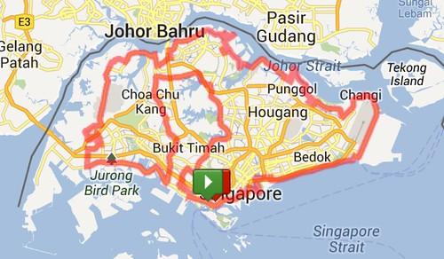 CCF 170km Round Island Ride in Singapore, Singapore | MapMyRide