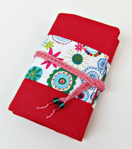 Red linen needle book 1
