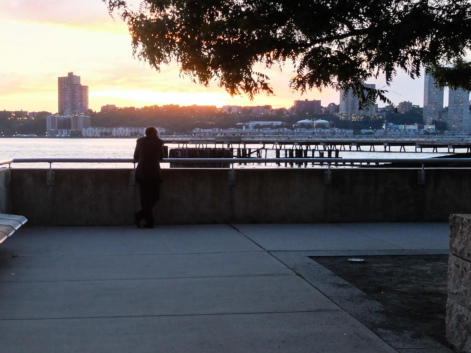 Man Watching Sunset by wwward0