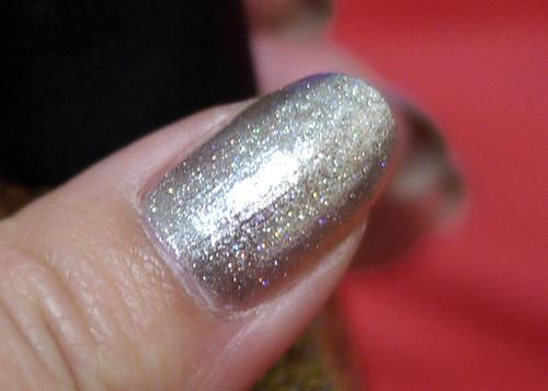 Holiday Nails Silver Smash