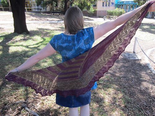 Obligatory wingspan shawl picture