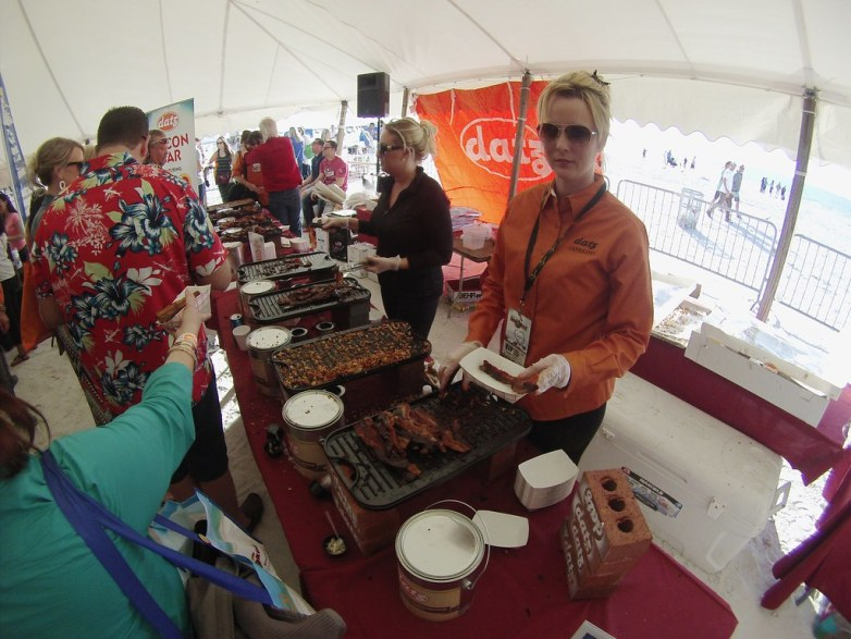 Bacon Bar! By Datz Tampa Catering - Clearwater Beach Uncorked, Food, Wine & Beer Festival. Clearwater Beach, Florida, Feb. 7, 2015