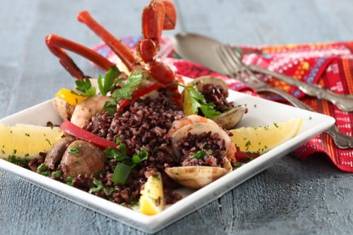 Seafood Black Rice Paella