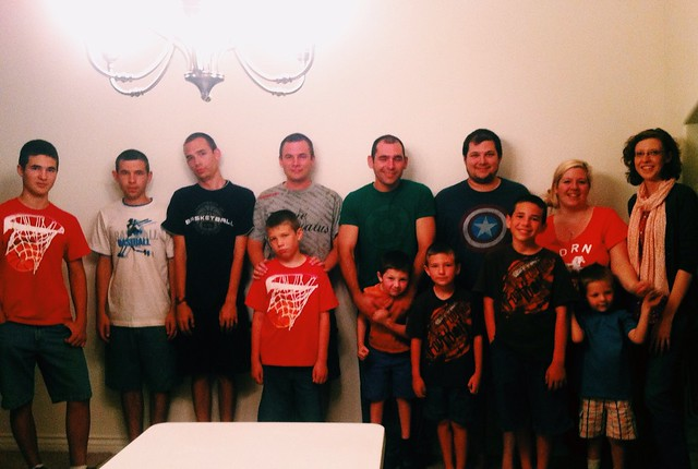 Brothers and nephews and only two girls ;)