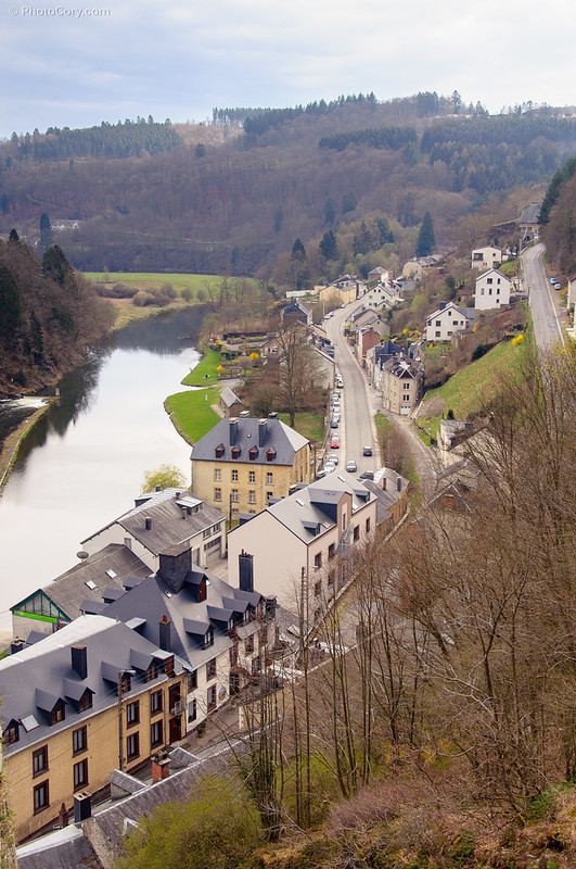 The Semois river that goes through Bouillon