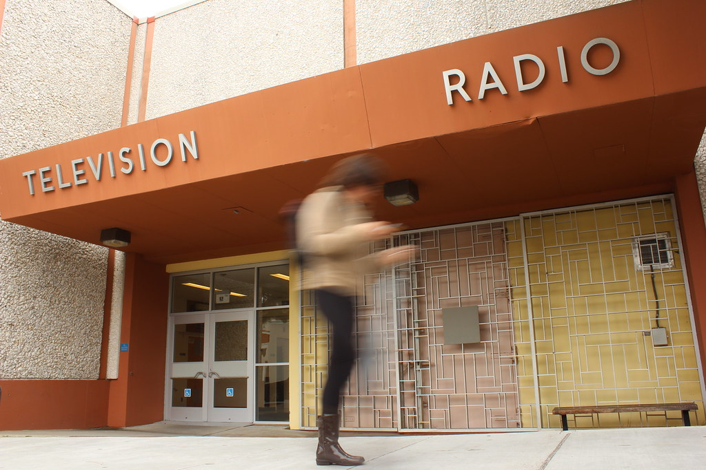 A student walks by the current Broadcast wing of the Creative Arts building Monday, Mar. 3. Photo by Tony Santos / Xpress