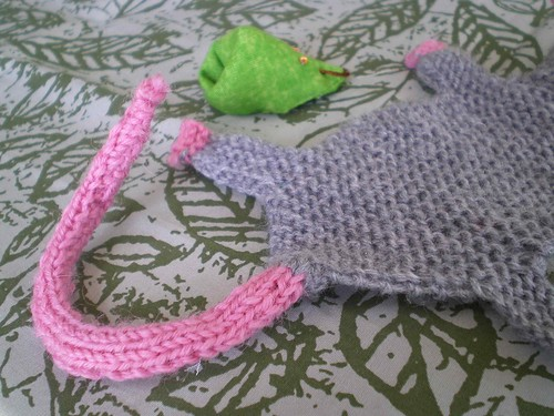 tricot souris marque page