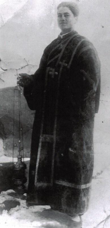 Părintele Justin în anul 1938, la Mănăstirea Durău