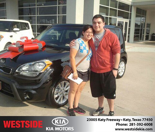 Thank you to Karla Villatoro on the 2013 Kia Soul from Gil Guzman and everyone at Westside Kia! by Westside KIA