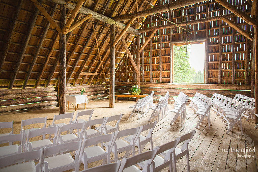 Huble Homestead Barn Wedding Ceremony Prince George British Columbia