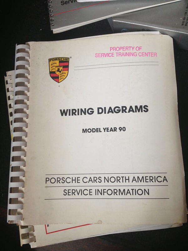 Porsche Factory Manual Wiring Diagrams Model Year 91 911 C2 C4 911