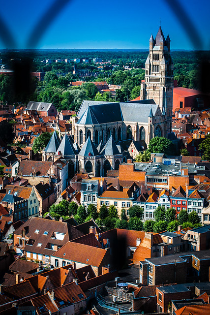 View from Bruges Belfry Tower