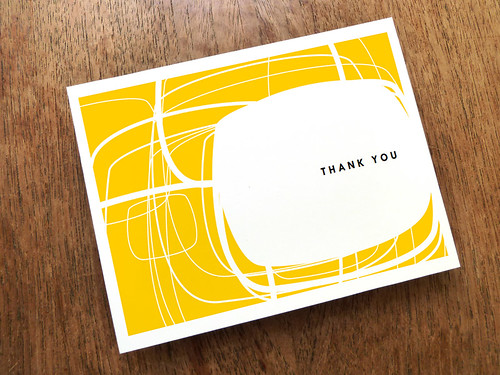 Mid Century Modern Thank You Card