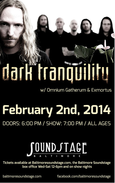 Dark Tranquillity at the Baltimore SoundStage