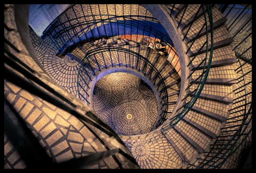Spiral Stairs - Embarcadero Center - 2014