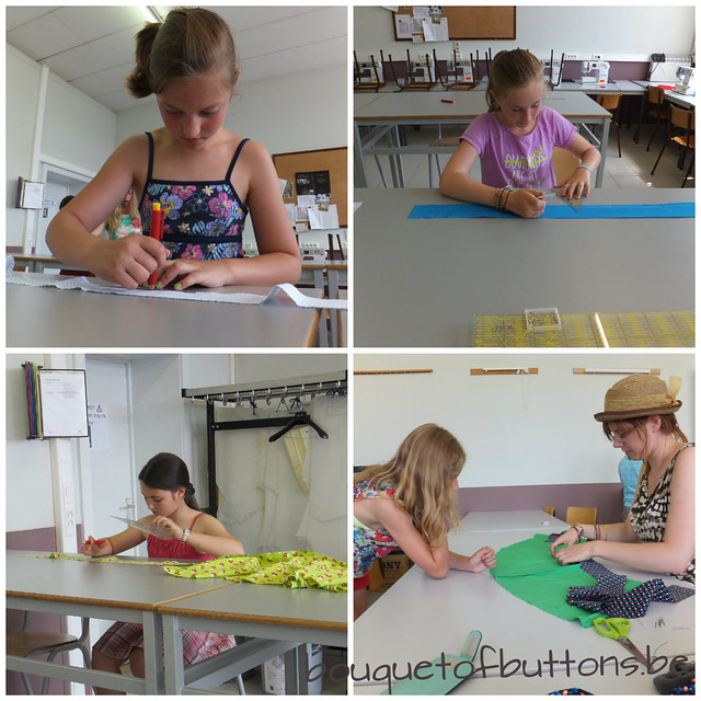 sewing classes for Children, Naailes voor Kinderen