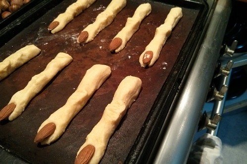 cheesy witches fingers