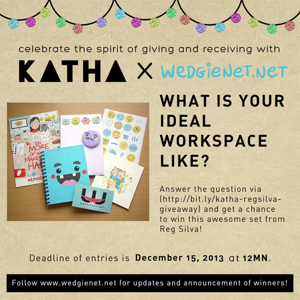 My creative workspace on Katha magazine + a giveaway!