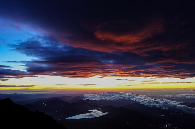 Desde la cima del Fuji